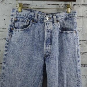 vtg Levi's 501 MADE IN USA Acid Washed Button Fly